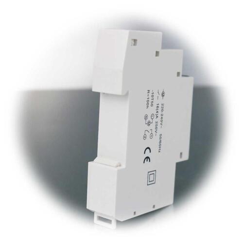 Tages Zeitschaltuhr Analog Hutschiene Schalttafel Einbau 16A 230V 3500W Batterie