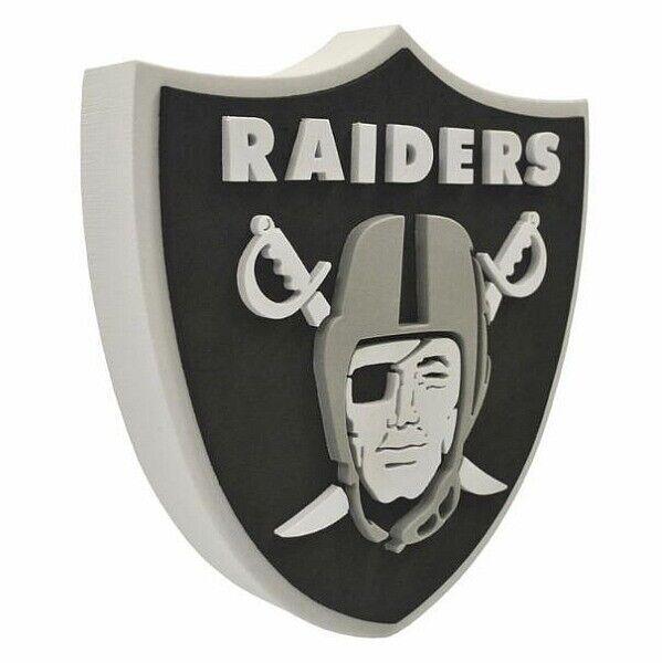 Oakland Raiders 3D 3D 3D Fan Foam Logo Sign Bild,NFL Football,Relief Wandlogo,37cm 63f11e