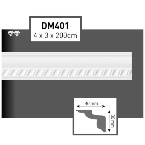 4 Meter Styroporleisten Zierprofile Stuckprofile Vielfalt der Muster und Maße 0B