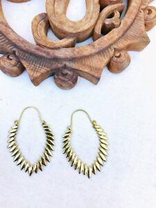 Earrings Lovely Large Banjara Ethnic Brass Hoops Earring Vintage Gypsy Fashion Tribal Jewelry
