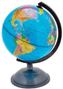 18cm discovery globe world map atlas revolving with stand earth image is loading 18cm discovery globe world map atlas revolving with gumiabroncs Images