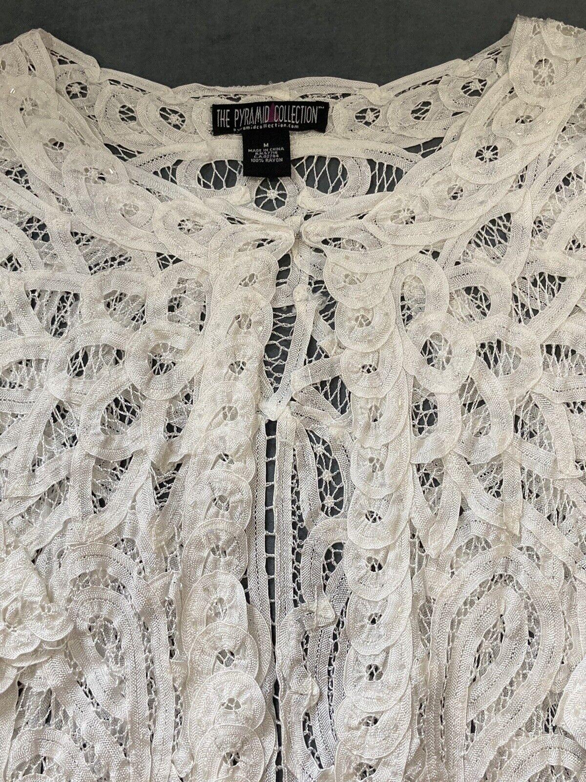 90s vintage fairycore bohemian crochet sweater - image 2