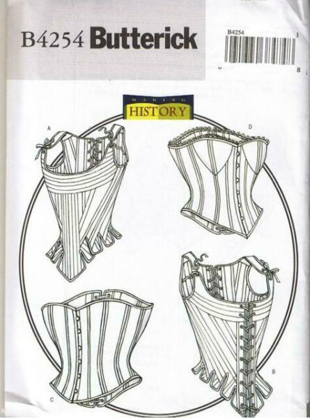 Butterick 4254 Vintage Historical Corset Costume Pattern 6-10 Steampunk 4 style