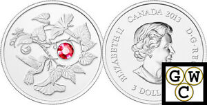 Canada 2013 $3 Hummingbird with Morning Glory Fine Silver Coin