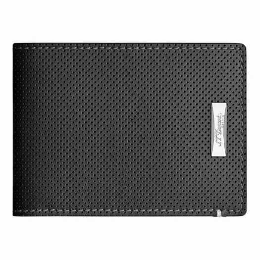 S.T. Dupont Defi 8 Credit Card Wallet, Perforated Leather, 170402, New In Box