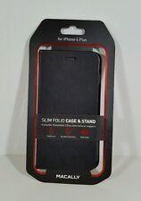 "MACALLY FOLIOP6LB iPhone 6 Plus 5.5"" Slim Folio Case W/Stand (Black) New"