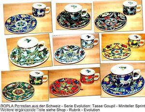 GOUPIL-amp-SPRINT-BOPLA-Evolution-Porzellan-Kaffeetasse-Teetasse-mit-Untertasse