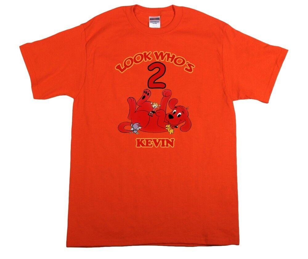 Clifford Big Red Dog Custom T-shirt Personalize tshirt Birthday CHOOSE NAME//AGE