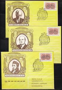 Soviet-Lithuania-1970-full-set-of-6-covers-Vilnius-University-400th-ann-Science