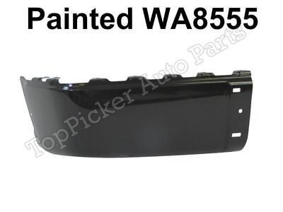 Painted Black WA8555 Rear Bumper Cap W//O Hole LH For 07-13 Chevy Silverado Truck