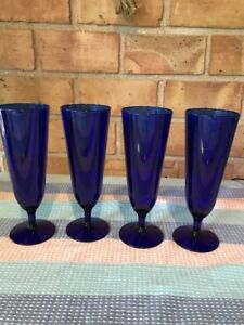 Set-Of-4-Cobalt-Blue-Pilsner-Champagne-Glass