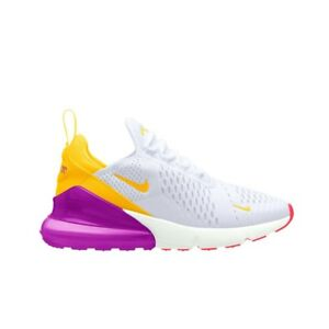 Mens Winter Nike Air Max 270 WhiteLaser OrangeHyper Violet AH6789 105 Sneakers ah6789 105