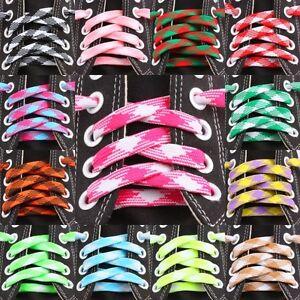Flat-Argyle-Plaids-Check-Thick-Long-Shoe-Laces-Shoelaces-Shoestrings-Bootlaces
