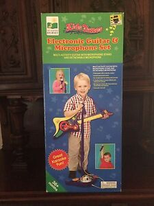 The-Learning-Journey-Kids-Tunes-Electronic-Guitar-Microphone-Set-New-In-Box
