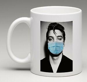 Social Distancing Coffee Mug Elvis Presley Tea Cup 11 Oz.