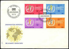 Switzerland 1975 World Health Org. FDC First Day Cover #C37913