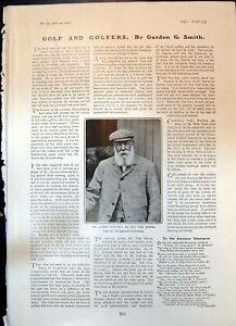 Original-Old-Antique-Print-Veteran-Golfer-Tom-Morris-Aged-83-1904