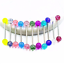 7pcs-Colorful-Steel-Bar-Tongue-Rings-Body-Piercing-Jewelry-Tounge-Bars-Cool thumbnail 2