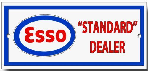 ESSO STANDARD DEALER METAL SIGN.200MM X 95MM PREMIUM QUALITY SIGN.