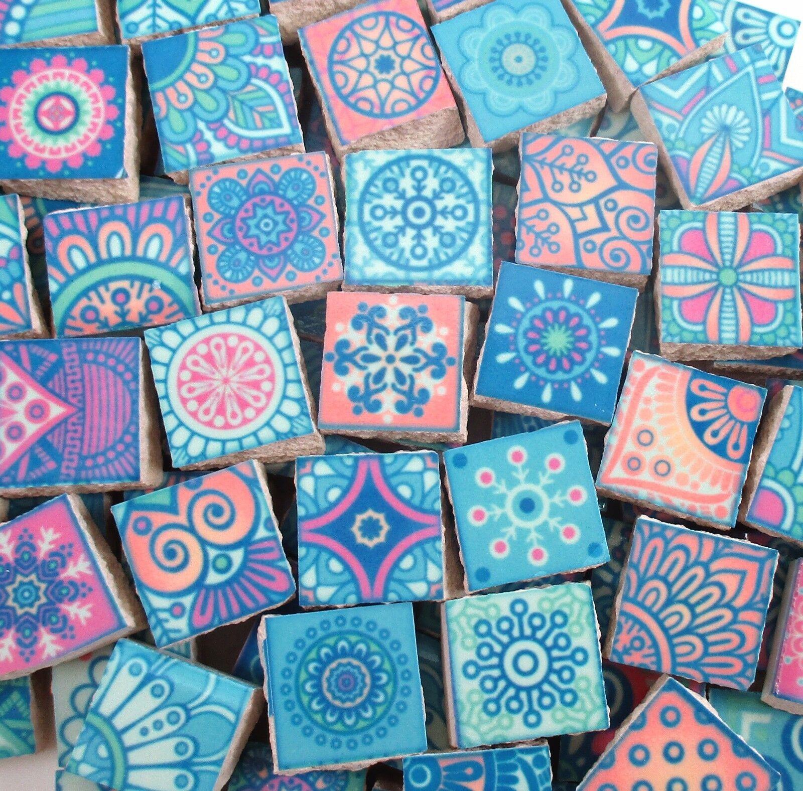 Ceramic Mosaic Tiles Medallions Moroccan Tile Mosaic Pastel Colors ...