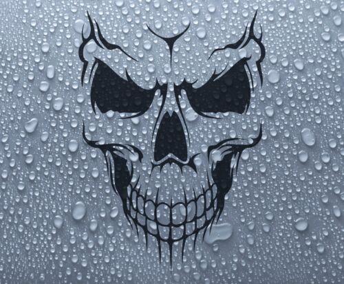 bike boat bumper window #7 DEC1059 Smiling Skull vinyl car decal sticker