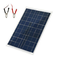 30W 12 Volts Solar Panel Kit Portable Solar Panel Battery Charger Backup for Car