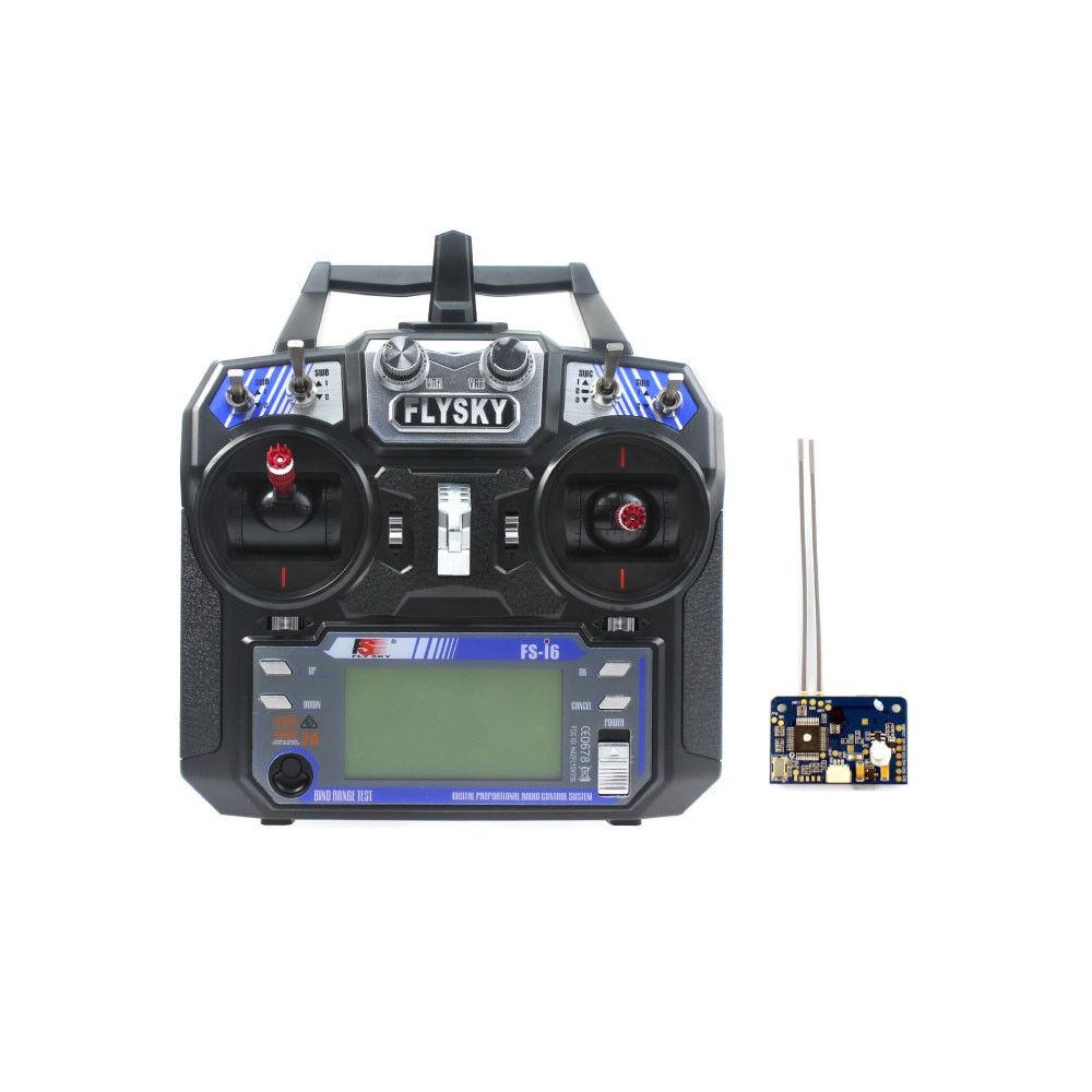 Flysky FS-i6 6CH 2.4G AFHDS 2A LCD Transmitter Radio System w/ FS-X6B Receiver