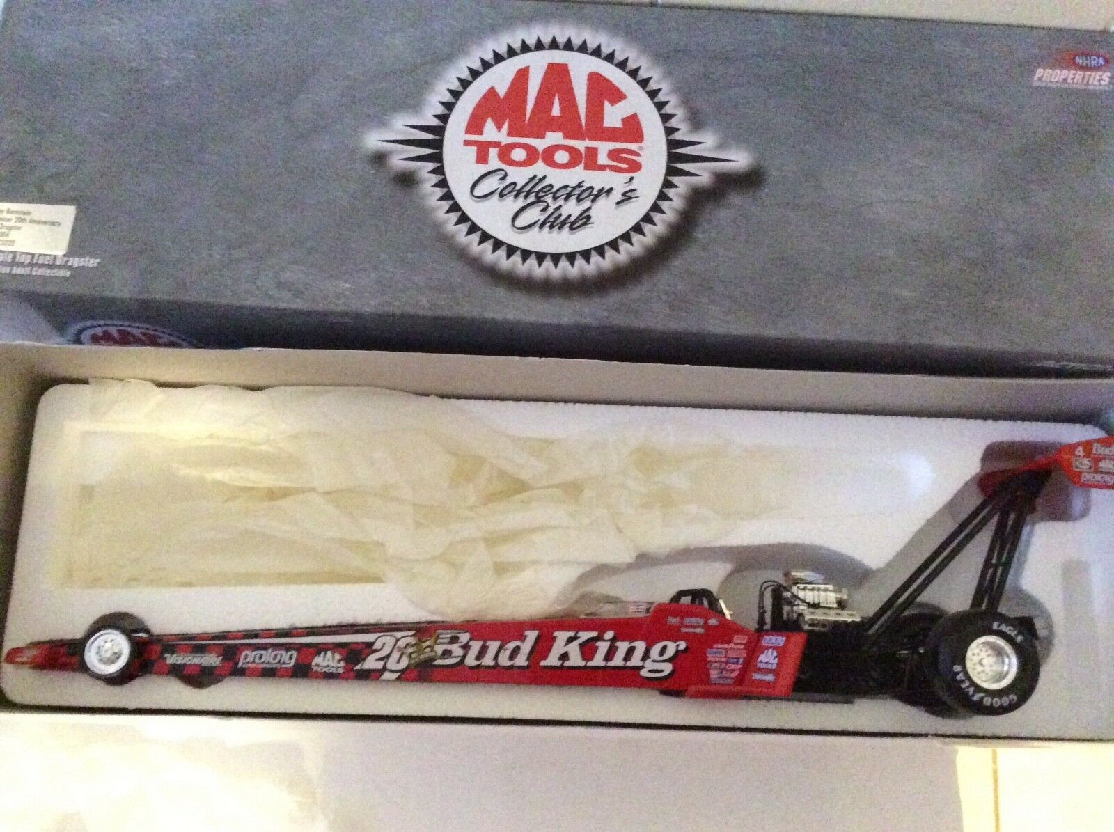 BUDWEISER KING TOP FUEL 1 24 action 1999 Mac tools NHRA dragster 20th anniversar