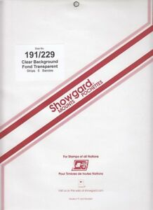 Showgard-Clear-Long-Stamp-Mounts-191-mm-229-Celebrate-the-Century-Fresh-Pack