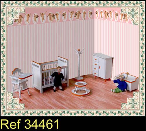 34461 enfants chambre à coucher Orbite de maison de poupées 1//12th pièce décoration