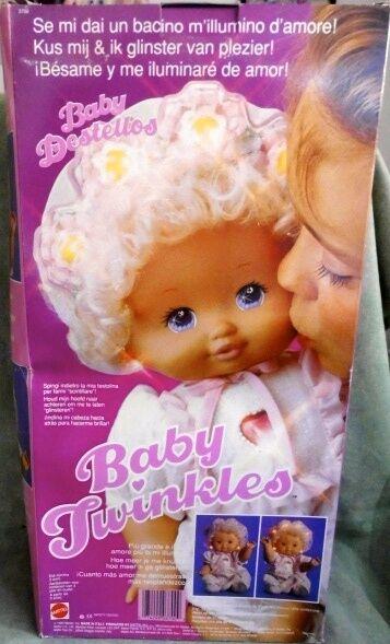 BABY TWINKLES  DOLL MATTEL  FONDO DI MAGAZZINO  VINTAGE