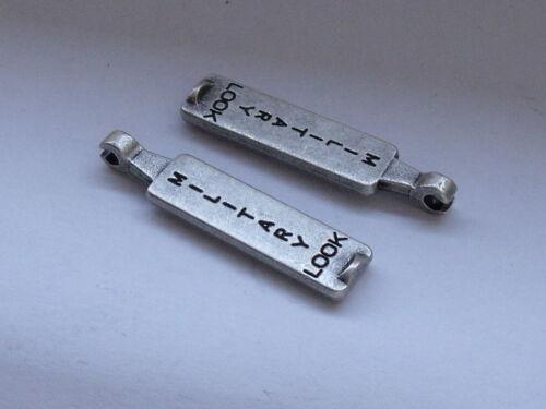 2 Stück Reißverschlusszipper Zipper Anhänger 3,5 cm altsilber  NEUWARE #487#