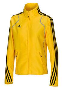 Adidas-Damen-Jacke-gelb-Trainingsjacke-Laufjacke-Gr-XS-S-Fitness