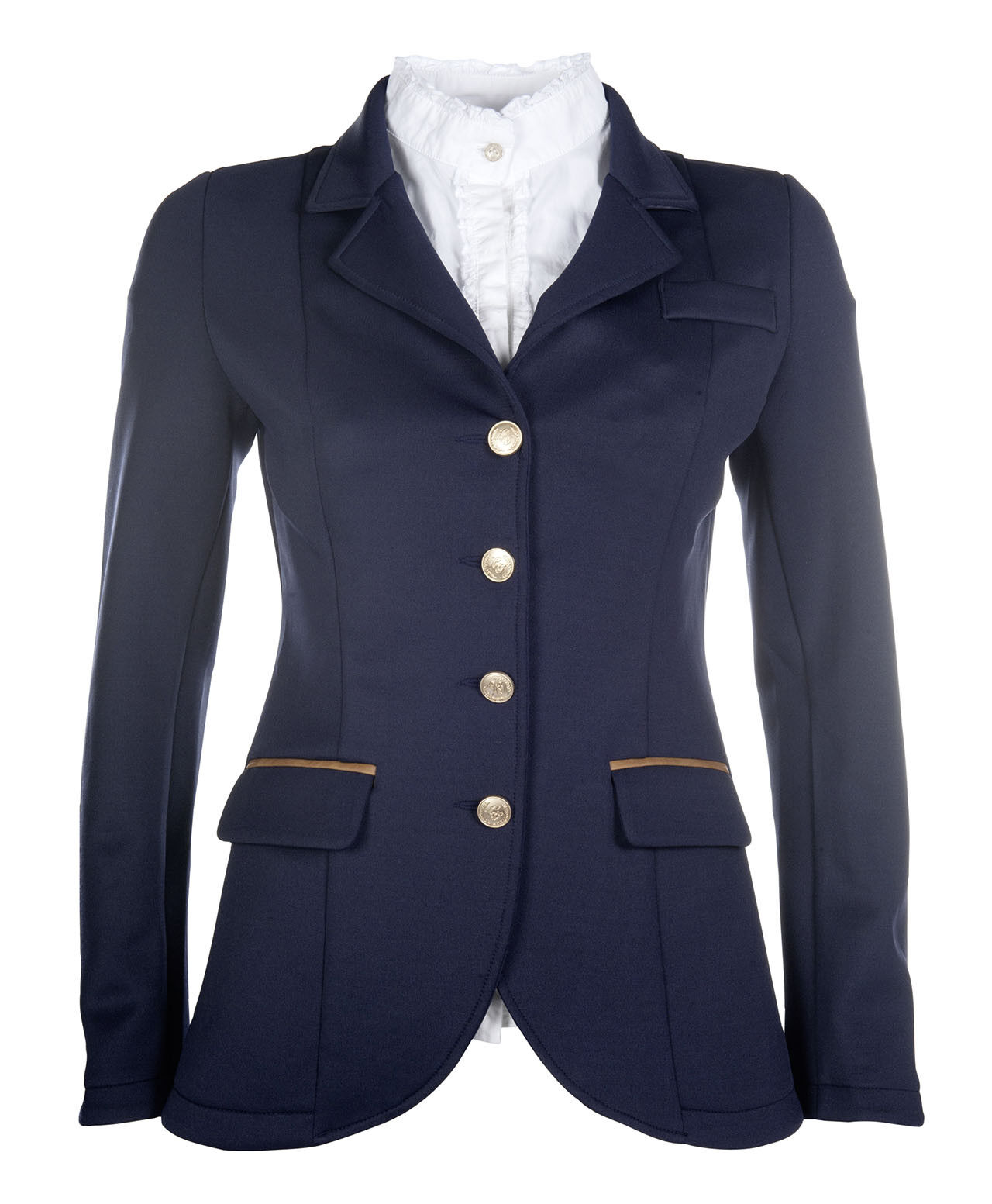 HKM Lauria Garrelli Competition - Show Jacket - Navy with braun piping