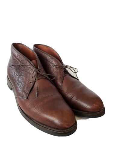 Allen Edmond Malvern Ankle Chukka Boots Brown Leat