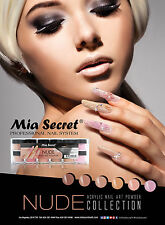 6pcs Mia Secret  Professional Nail Syste Nude Collection Acrylic Nail Art Powder