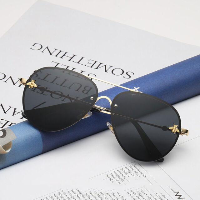 42b05238 New Fashion Rimless Sunglasses Men Women Vintage Gold Small Bee Sun Glasses