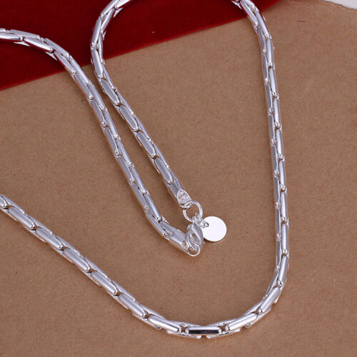 wholesale sterling solid silver Fashion Jewelry Chaîne Collier xlsn 059 Hot