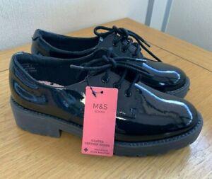 M\u0026S Girls Black School Scuff Resistant