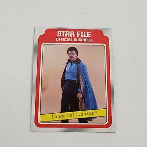 1980 Topps STAR WARS Empire Strikes Back Lando Calrissian Star File Card  #8