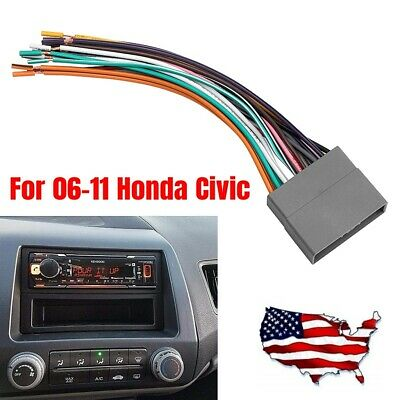 Stereo Wiring Harness Antenna Combo for 2006-2011 Honda Civic CR-V Fit Odyssey