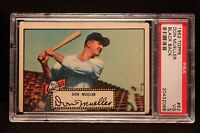 "1952 Topps #52 Don Mueller  PSA 3 VG ""Black Back"" New York Giants NICE"