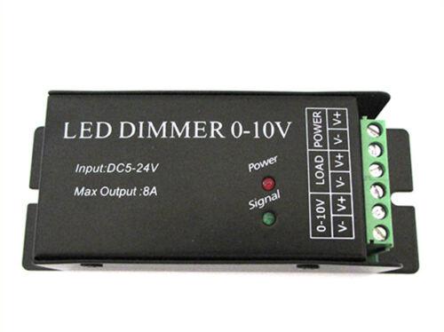 Led Dimmer Con Segnale 0-10V o Con Potenziometro 12V 24V 8A Per Striscia Led DM0