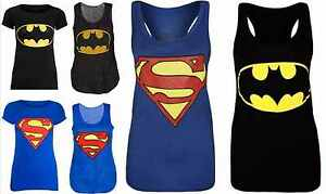 Womens-Ladies-Plus-Size-Sleeveless-Superman-Batman-T-Tee-Shirt-Vest-Top-8-to-26