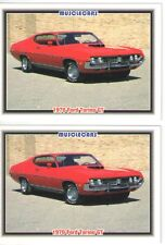 1970 Ford Torino GT baseball card sized cards - Must See !! - lot of 2