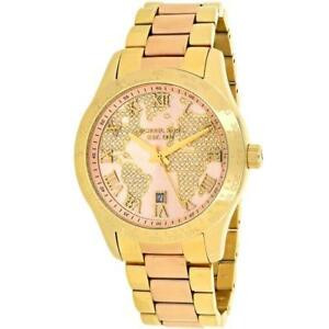 Michael kors layton crystals rose gold globe world 44mm watch mk6476 michael kors layton crystals rose gold globe world 44mm watch mk6476 gumiabroncs Gallery