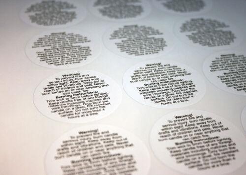 - etiquetas de advertencia 54 focos haciendo 75 Hojas pequeño, círculos 29 Mm 4050 Etiquetas