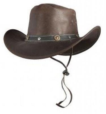 Trapper Indiana Jones Westernhut Leder Hut Braun S M L Xl Neu Aktionsverkauf Weniger Teuer