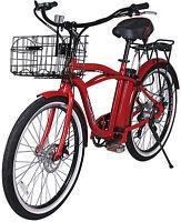 X-treme Newport 24 Volt Electric Beach Cruiser Bicycle Bike Red