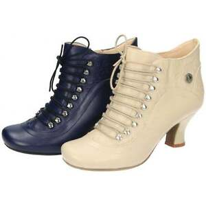 Hush-Puppies-Vivianna-Leather-Lace-Up-Mid-Flared-Heel-Victorian-Ankle-Boots-Shoe